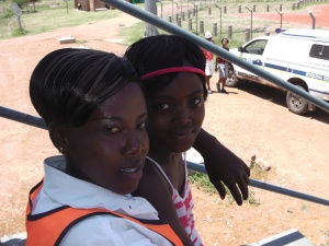 Abegail and Mandisa at the Music and Dance Festival
