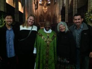 Archbishop Tutu with Americans
