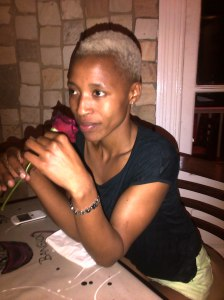 Zandy on a date with me in Durban