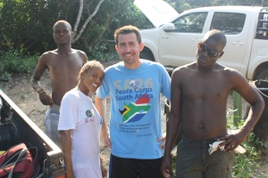 Erik in the village sporting his SA26 T!