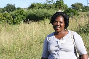 Lettie and the site of Vikelani Abantwana