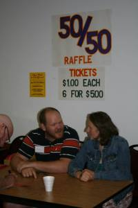 Rich and Meghan selling raffle tickets