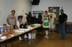 Dad, Aunt Peach, Uncle Bill and other volunteers for the Beer and Wine event